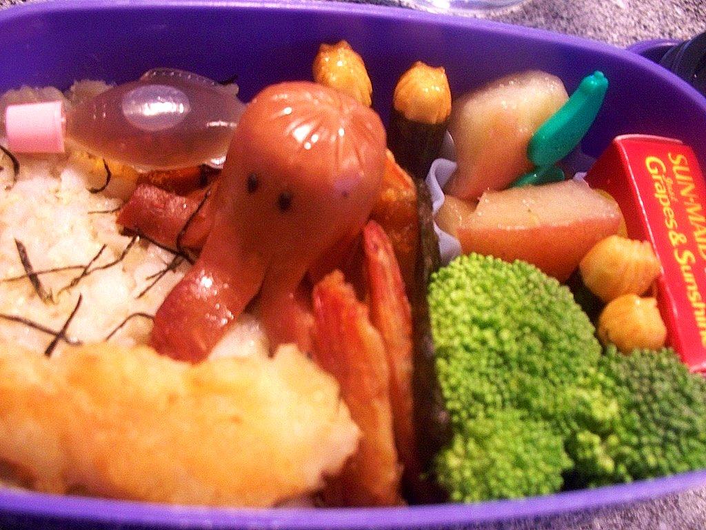 octopus character bento
